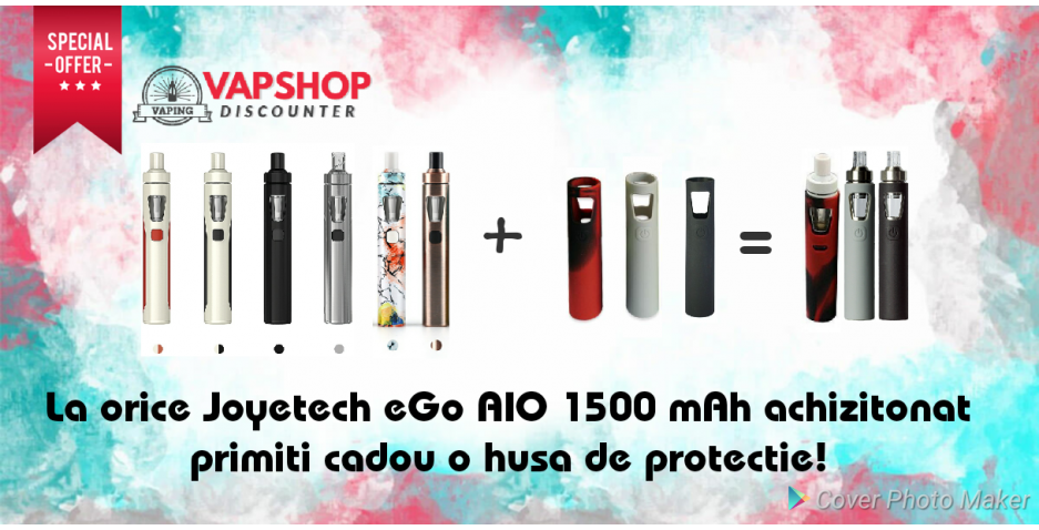 Promotie Joyetech eGo AIO 1500 mAh + husa