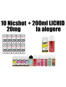 10 x Nicshot Pinky 20mg/ml + 200ml Lichid