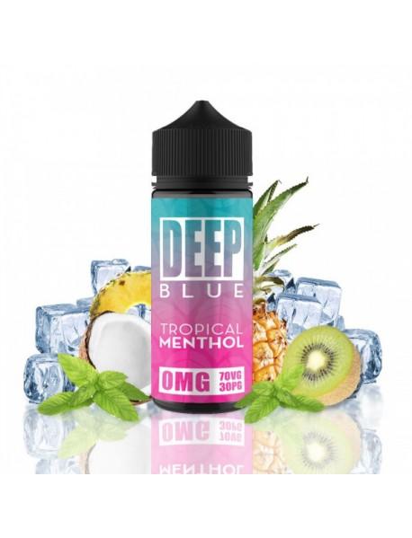 Deep Blue Tropical Menthol 100ml fara nicotina