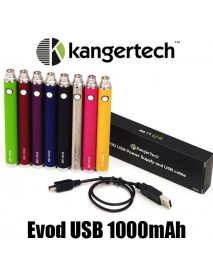 Baterie USB passtrough Evod 1000mAh - neagra