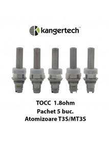 5 X Kanger TOCC T3S/MT3S 1.8 ohm