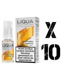 Pachet PROMO 10 x Liqua Traditional Tobacco 10ml